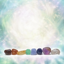 Chakra Crystals emitting beautiful energy